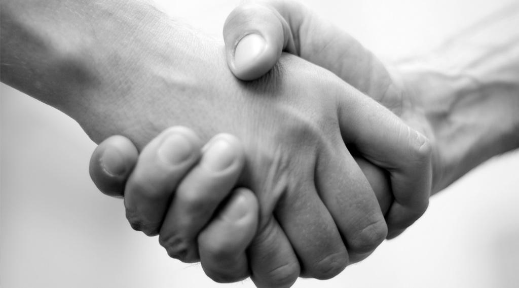 Bei uns zählt Handschlagqualität.